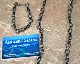 Fishing Necklace, Big Barrell, Fishing Jewelry, Angler, Angler Necklace, Fisherman Gift, Angler Gift