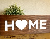 """Hand painted """"Home"""" wood sign"""