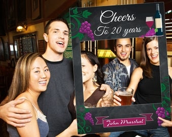 Large custom wine birthday photo booth prop frame, wine party, wine party decorations, wine birthday, Bachelorette, bachelor party ;10011183