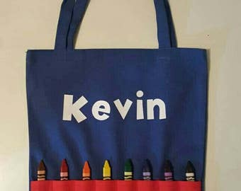 Personilized travel tote for kids
