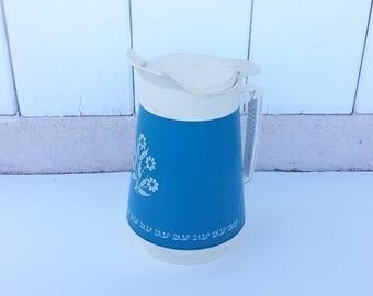 1960s Blue Cornflower Corningware Thermo-Serv Pitcher