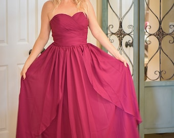 Beautiful burgundy dress, flower girl,ball gown,party dress,evening gown,bridal dress,bridesmaids