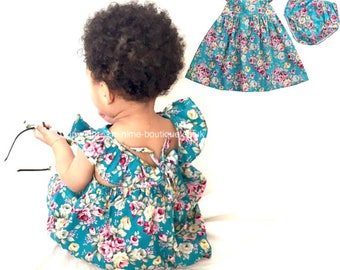 Floral dress and bloomers set