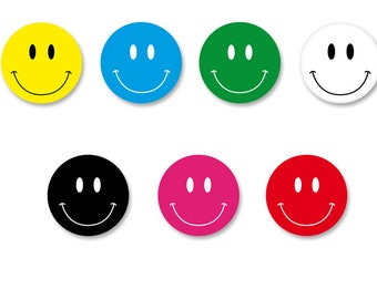 Batch Badge Button Pinback pine o25mm - o38mm / Magnet o38mm Smiley Face Smiling smile Happy Face Smile