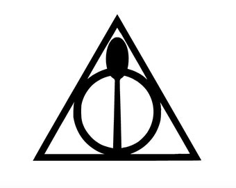 "Spoonie Hallows 3"" vinyl decal - deathly hallows - harry potter - spoon theory - spoon sticker - chronic illness - invisible illness"