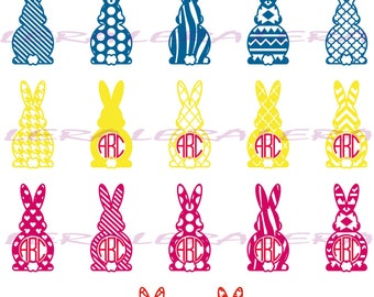60 % OFF, Rabbit svg, Easter SVG, Easter Bunny svg, Easter Cut Files svg, dxf, ai, eps, png, Rabbits Monograms  Svg, Cut files for Cricut