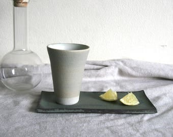 Ceramic Cup, Beer mug 240ml - Light grey