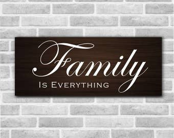 Family is Custom Wooden Sign, Family Is Everything, Family is Forever, Housewarming Gift, Wedding Gift, Gallery Wall