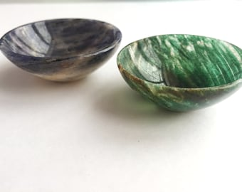 Stone lamps, iolite Stone Lamps, Natural Iolite and green Aventurine lamps -- Indian Lamps