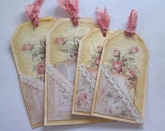 Hand made vintage style tag set 13