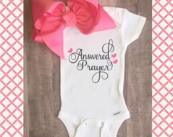 Answered prayer onesie/bodysuit