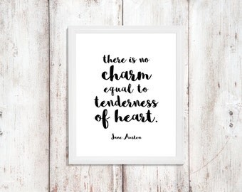 Jane Austen Art - Instant Download - Printable Quote - There Is No Charm - Home Decor -  Word Art - Digital Artwork