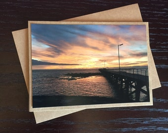Handmade Photo Card - Moonta Bay Jetty - JGP06
