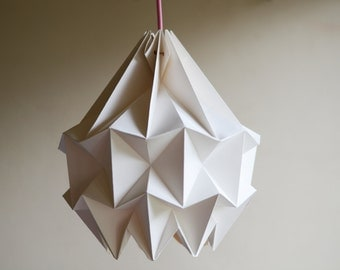 Chestnut paper origami lampshade white snow paper origami lampshade white aloadofball Images