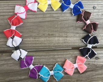Baby Hair Bows / Small Bows / Toddler Bows / Moonstitch Bows
