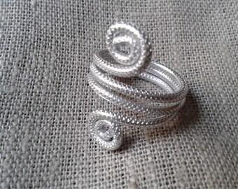 Aluminum ring, hypoallergenic, aluminum jewelry, DRjewels