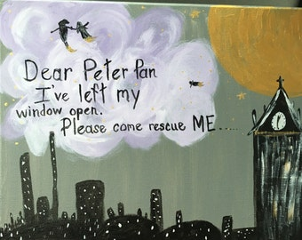 Peter Pan canvas