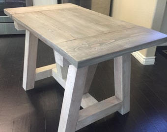 Dining Table   Farmhouse Dining Table   Kitchen Table   Wood Table   Truss  Beam Table