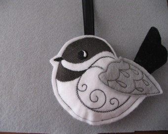 Chickadee Stuffie Bird Ornament Adornment