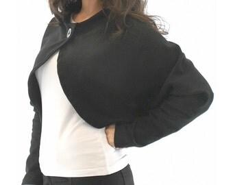 Shrug, Bolero, Black Shrug, Fitted Bolero, Long Sleeves, bolero jacket,Short Stylish Jacket, long sleeve shrug, long sleeve bolero