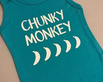 Baby romper | chunky monkey | create your own onsie
