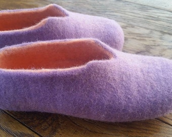 Felted slippers Women home shoes Natural Women slippers Felted slippers Traditional felt 100% wool Women winter shoes Woolen Clogs