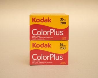 2 x Kodak ColorPlus 35mm 36 Exposures ISO 200 Color Negative Film