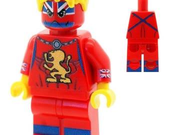 Custom Designed Minfigure - Captain Britain Version 2 (Excalibur) Printed On LEGO Parts