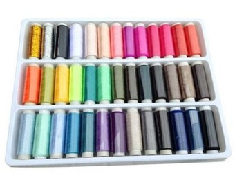 39 reels of son to sew sewing sacrapbooking 100% Polyester