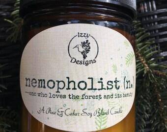 """Wonderful Pine & Cedar Scented Candle """"Nemopholist""""!"""