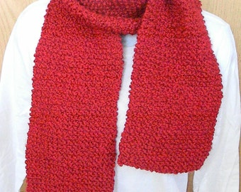 Knitted Scarves-Red, Candy Apple