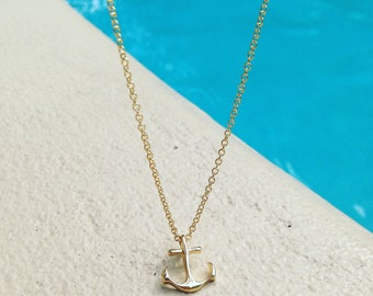 Anchor Necklace | Gold Anchor Charm | Simple Necklace | Best Friend Gift | Meaningful Jewelry | Friendship Birthday Gift | Nautical Jewelry