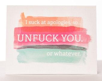 Apology/Sorry Card