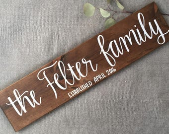 Last Name Family Wood Sign | Custom Family Sign | Personalized Wood Sign | Home Decor | Housewarming Gift | Wedding Gift