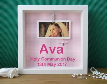 First Communion Gift - First Communion Frame - First Communion Girl - First Holy Communion Gift - Holy Communion Gift - Personalised Frame