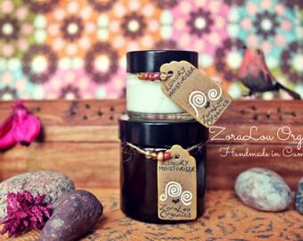 Organic luxury facial moisturiser 60ml jar (with Raw Cacao Butter & Vitamin E oil)