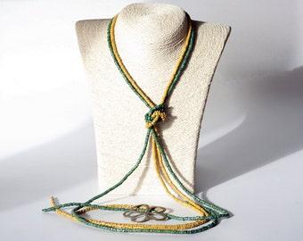 Ceramic Necklace Boho Necklace long Colorful Necklace Ceramic Beads Ethnic Necklace Floral Necklace Beaded Ceramic Necklace Long necklace