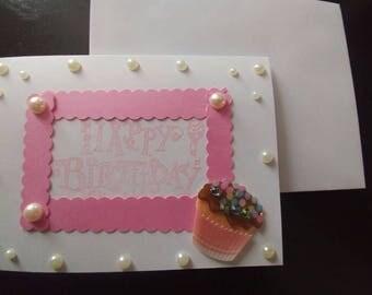 3D Classy Girl Birthday Card
