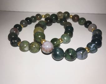 Nature-toned Beaded Bracelet