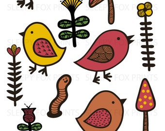 Worm clipart | Etsy