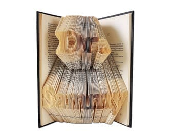 Gift for doctor, PhD Gift, PhD Graduation Gift, Folded Book Art, Office Decor, Doctor Gift, Folded Book Art, Thank you doctor, Dr gifts