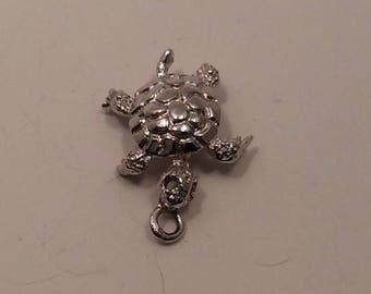 Vintage Turtle Sterlng Silver Charm for bracelet