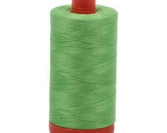 Aurifil Mako Cotton Thread Solid 50wt 1422yds 1050-6737 Shamrock Green