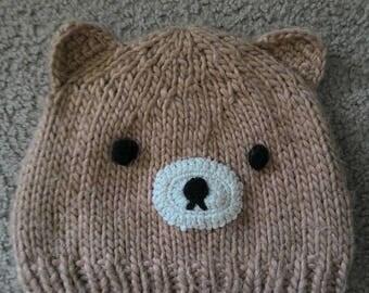 Cute Kawaii j fashion k fashion bear beanie