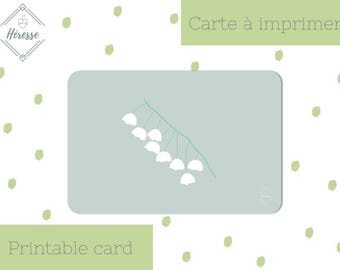 Lucky charm, lily of the valley - printable card, 10x15cm (4x6 in.)