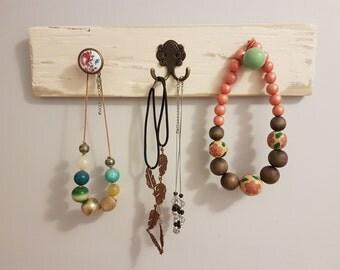 Jewellery Display Organiser/Coat Hook/Rack Upcycled Shabby Chic Rustic