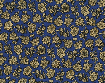 RJR - Shadow Flower, Navy - River Song by Lynette Jensen (3057-001) - Reproduction