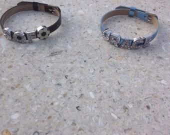 Metallic Slider Charm Bracelet