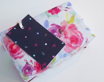 Five Confetti Pastel Spring Gift Tag