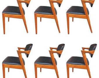 Kai Kristiansen Chairs model 42 in teak (custom upholstery available)